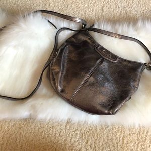 Metallic Coach crossbody purse